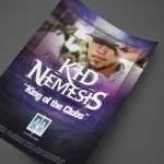 DJ Kid Nemesis at AJA Channelside Print Design by Ryan Orion Agency