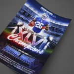 Antrel Rolle of the New York Giants at Antigua Orlando Print Design by Ryan Orion Agency