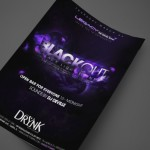 BlackOut Party at The Drynk Lounge Print Design by Ryan Orion Agency