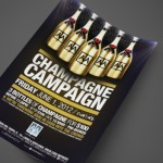 Champagne Campaign at AJA Channelside Print Design by Ryan Orion Agency
