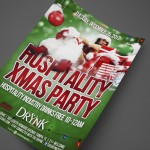 Hospitality Xmas Party at The Drynk Print Design by Ryan Orion Agency