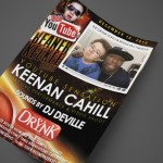 Youtube Sensation, Keenan Cahill at The Drynk Print Design by Ryan Orion Agency