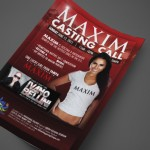 Maxim Casting Call at Hawaiian Village Print Design by Ryan Orion Agency