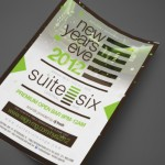 New Years Eve 2012 and Grand Opening Party at Suite Six Print Design by Ryan Orion Agency