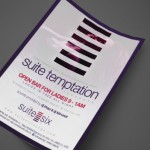 Suite Temptation at Suite Six Print Design by Ryan Orion Agency