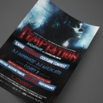 Temptation Halloween Party with Legacy Production Group Print Design by Ryan Orion Agency
