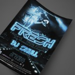 Tron Edition of Fresh Fridays with the Illuminautians at AJA Channelside Print Design by Ryan Orion Agency