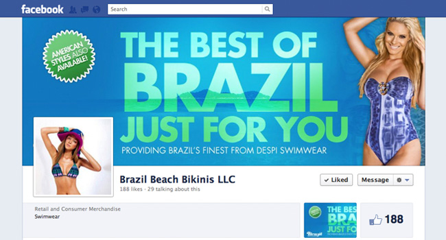 Brazilian Beach Bikinis Facebook Cover Photo by Ryan Orion Agency