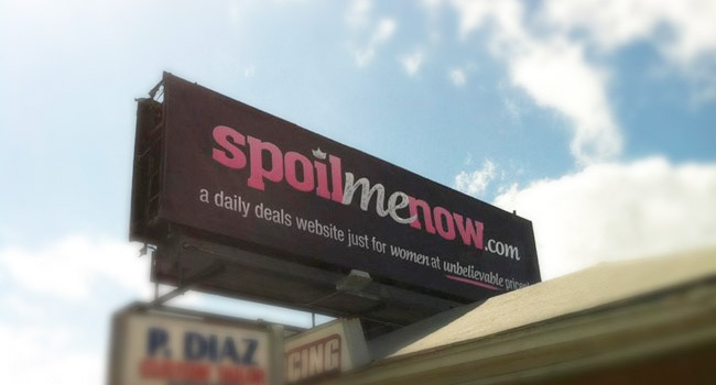 SpoilMeNow.com Billboard on Kennedy Blvd & Dale Mabry Hwy by Ryan Orion Agency